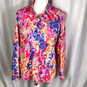 Appleseed's brightly cotton floral print shirt, 10